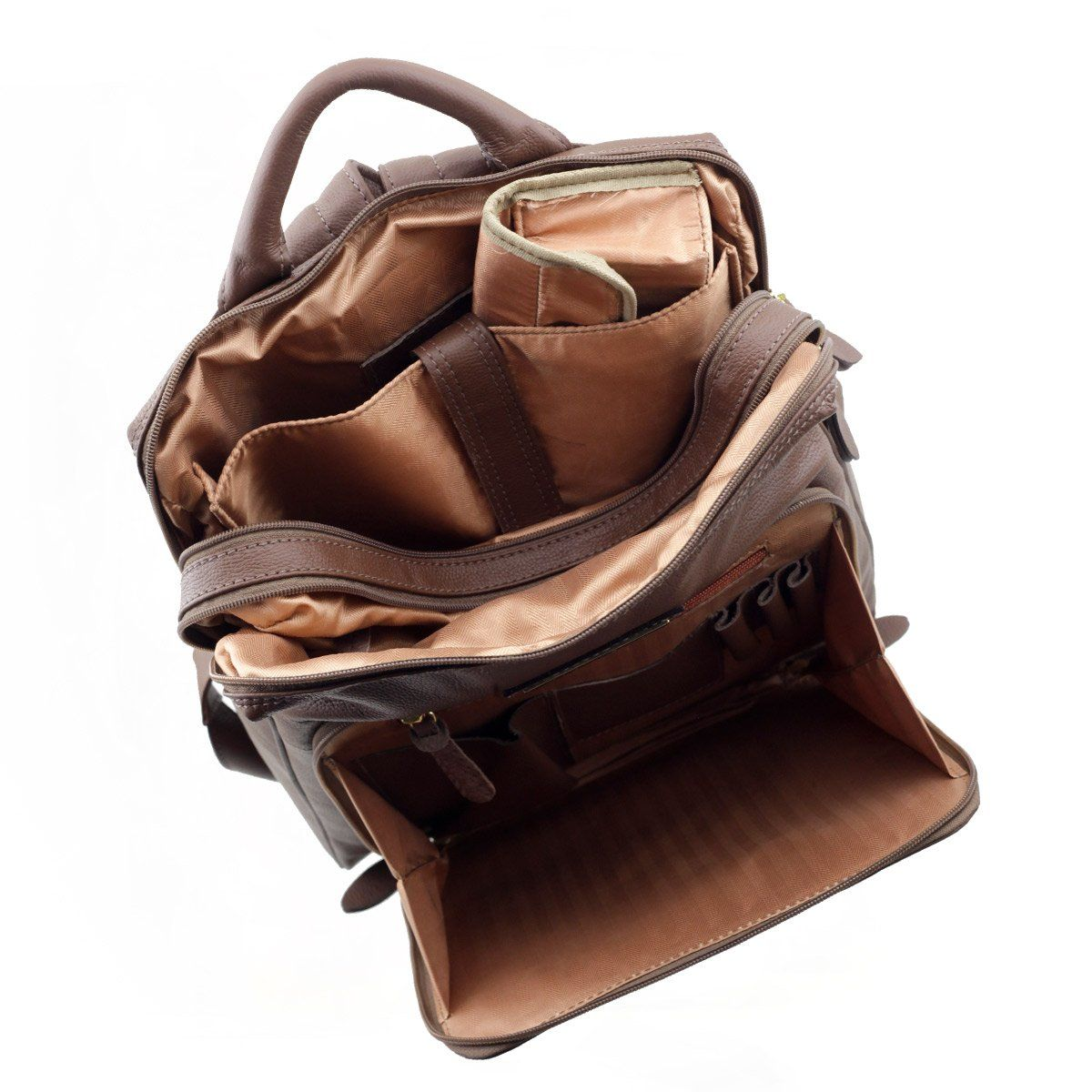Mochila de Couro para Notebook Chocolate