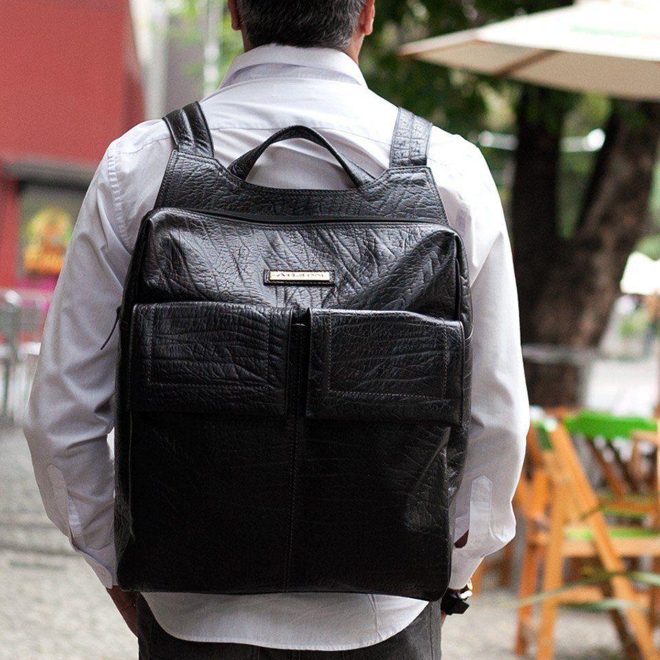 Mochila em Couro para Notebook Black