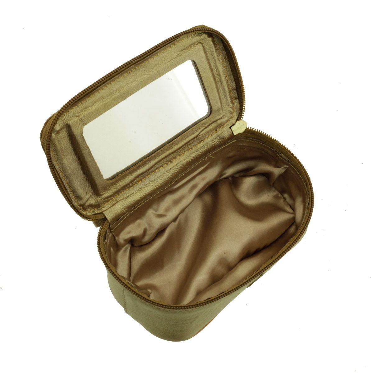 Necessaire com Espelho Bronze