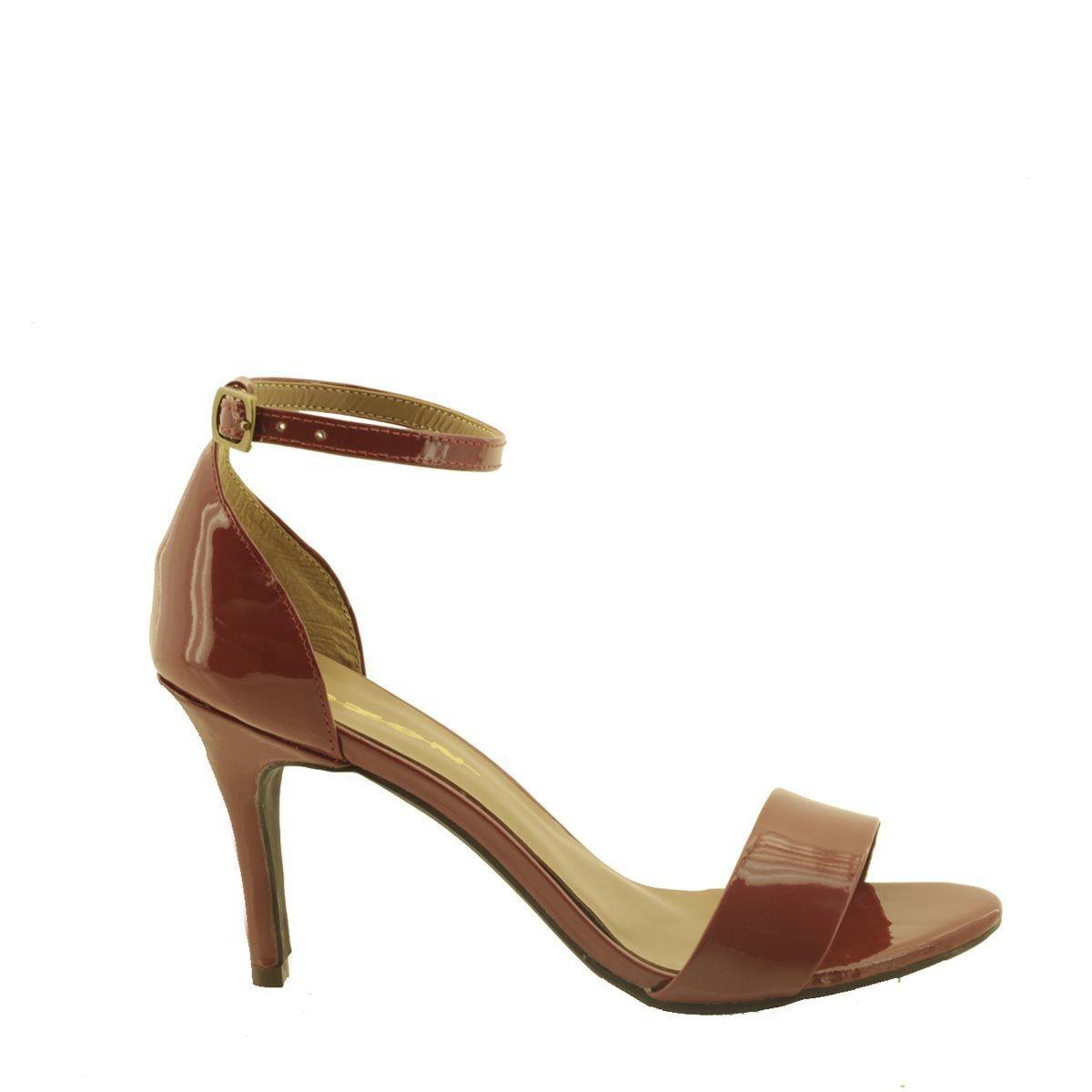 Sandália com Salto Fino Vermelha
