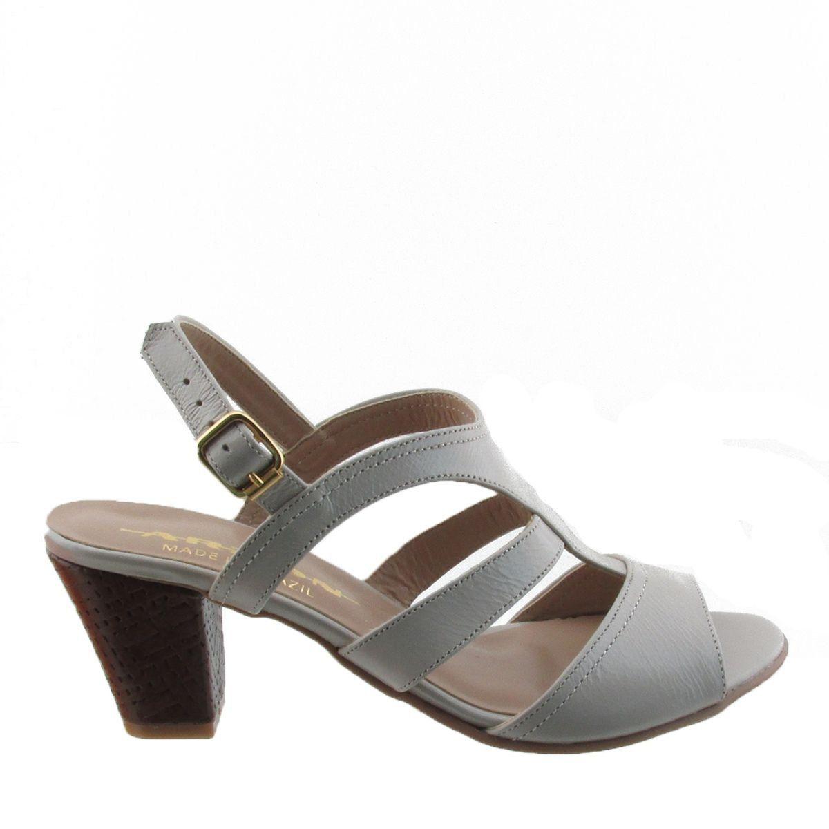 Sandália Salto Texturizado