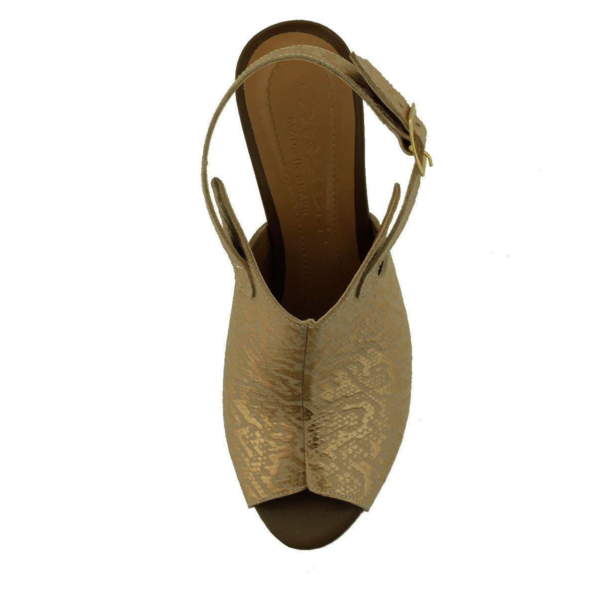 Summer Boot Feminina Metalizado Rosê
