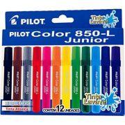 Caneta Hidrográfica Jogo com 12 Cores 850-L Junior - Pilot 1 JG
