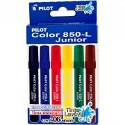 Caneta Hidrográfica Jogo com 6 Cores 850-L Junior - Pilot 1 JG