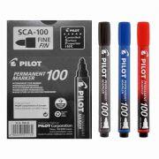 Marcador Permanente SCA 100 - Ponta Redonda 4.5mm - Pilot CX 12 UN