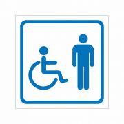 Placa Sanitário Masculino Cadeirante - Clace 1 UN