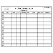 Quadro Branco para Gerenciamento de Pacientes (150 x 120cm) - Sob Medida