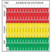 Quadro Kanban de Estoque com Suporte (119 x 128cm)- Sob Medida