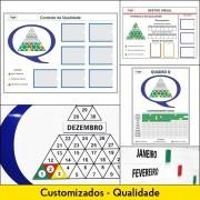 Quadros de Controle da Qualidade - Customizados