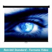 Tela Retrátil Standard no Formato Vídeo 4:3 - Clace 1 UN