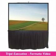 Tela Tripé Executiva no Formato Vídeo 4:3 - Clace 1 UN