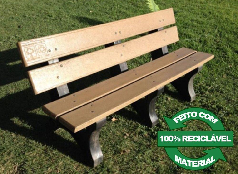 Banco de Madeira Plástica 100% reciclada - Modelo Angra - Clace 1 UN