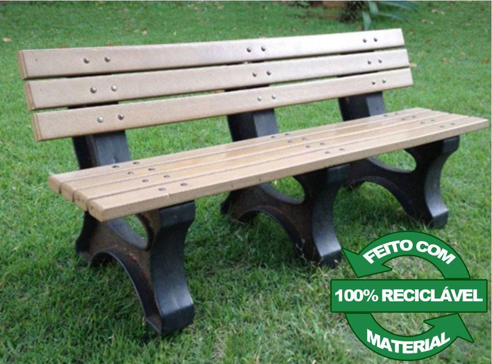 Banco de Madeira Plástica 100% reciclada - Modelo Búzios - Clace 1 UN