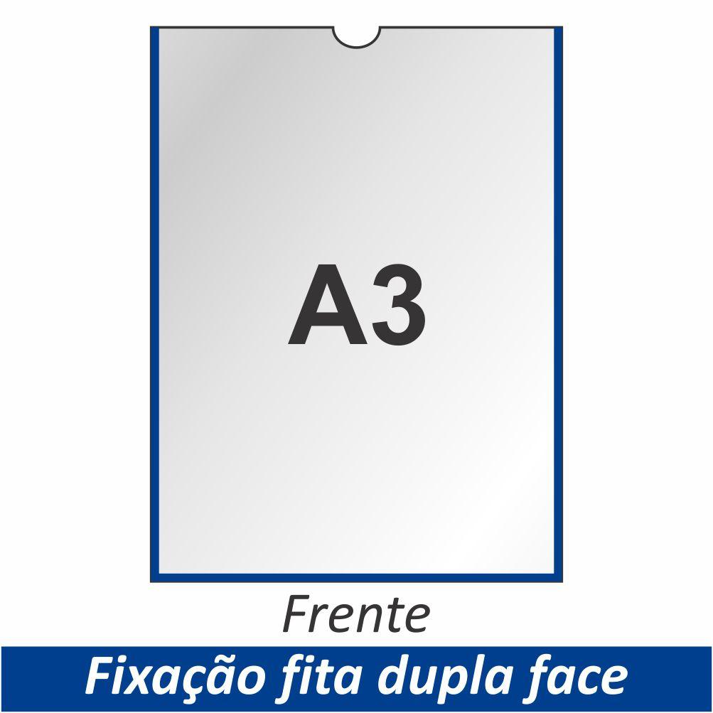 Display A3 em PETG com Fixação Fita Adesiva Dupla Face - Clace 1 UN