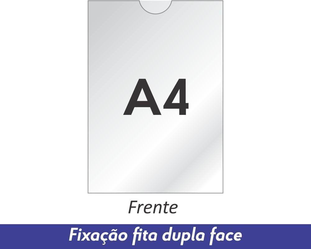 Display A4 em Acrílico com Fixação Fita Adesiva Dupla Face - Clace 1 UN