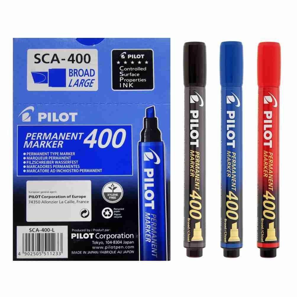 Marcador Permanente SCA 400 - Ponta Chanfrada 4.5mm - Pilot CX 12 UN