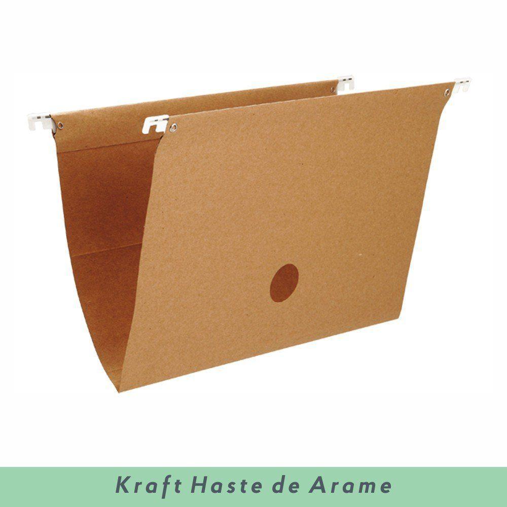 Pasta Suspensa Kraft com Haste de Arame - Dello 50 UN
