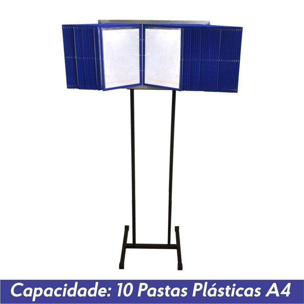 Pedestal Fixo para 10 Pastas Plásticas A4 - Clace 1 UN