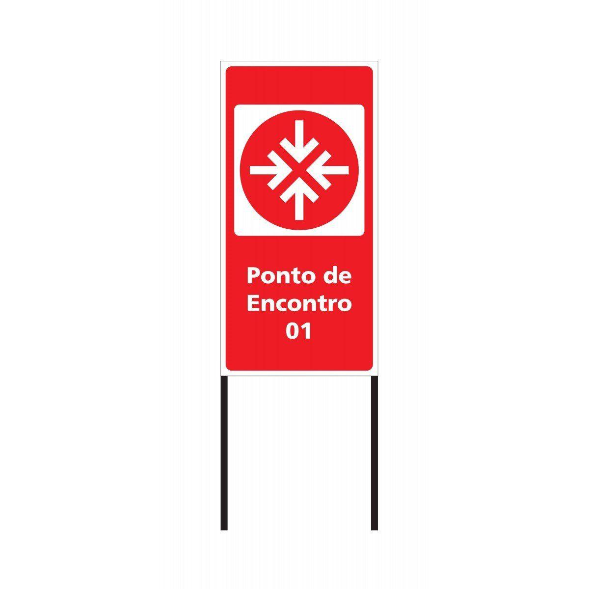 Placa: Ponto de Encontro 75x150 cm - Clace 1 UN