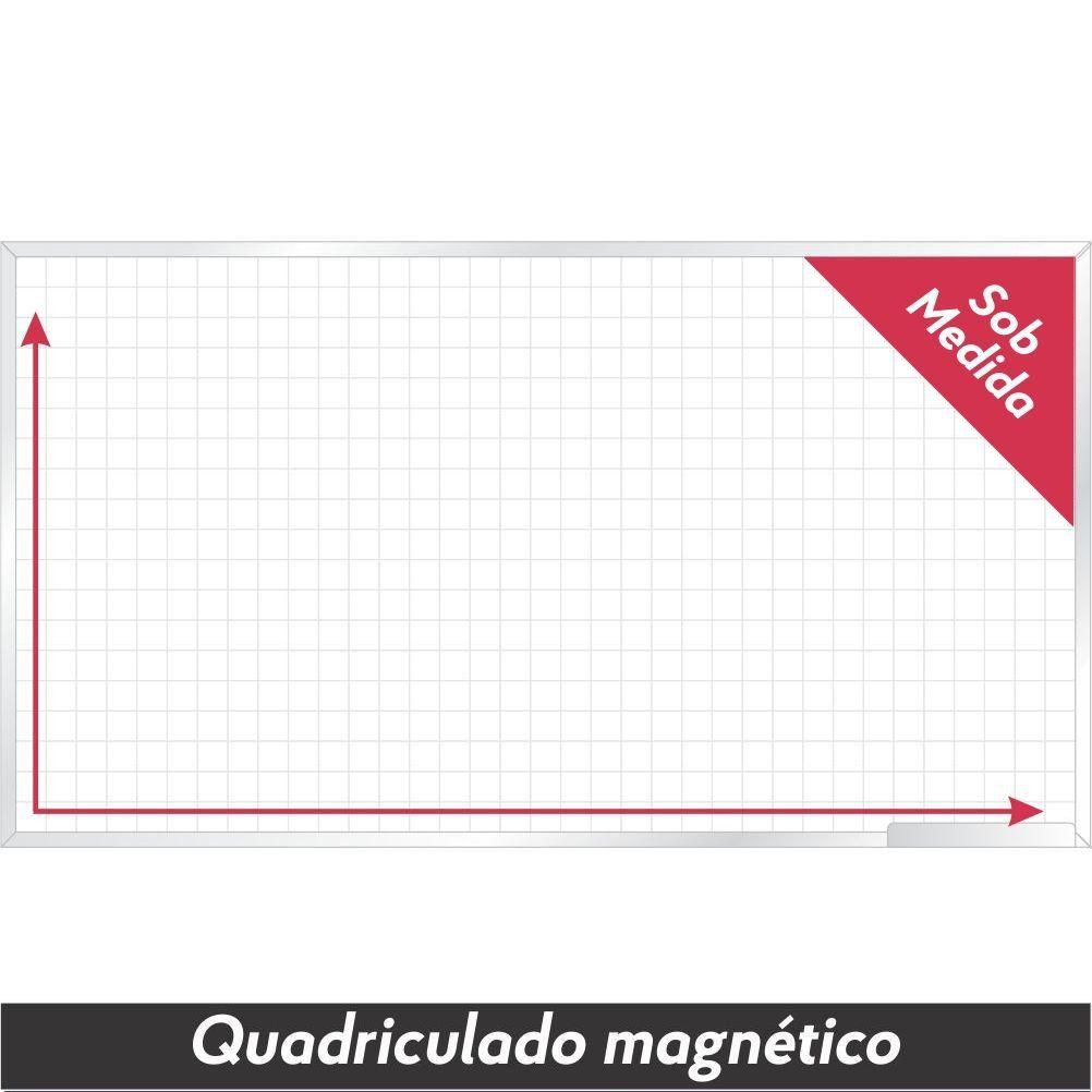 Quadro Branco Quadriculado Magnético Sob Medida - Clace