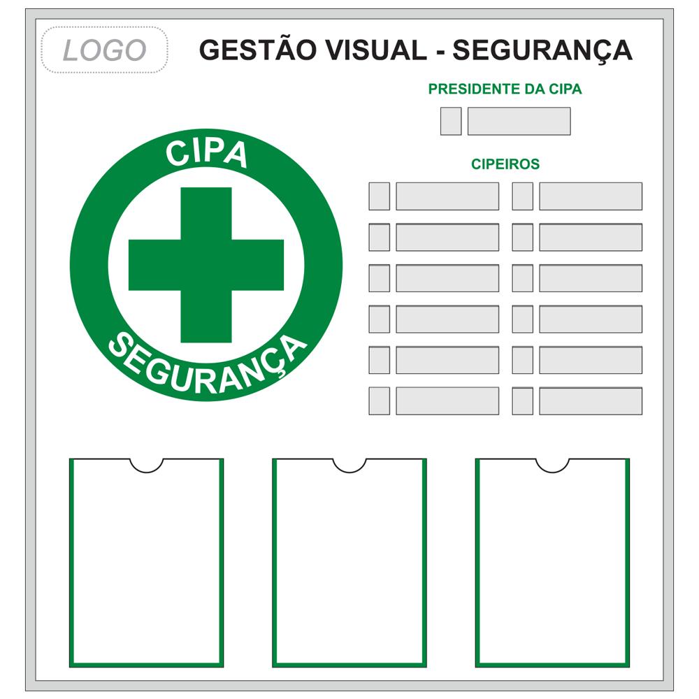 Quadro CIPA (Modelo 02) - 95 x 100 cm (L x A) - Clace 1 UN