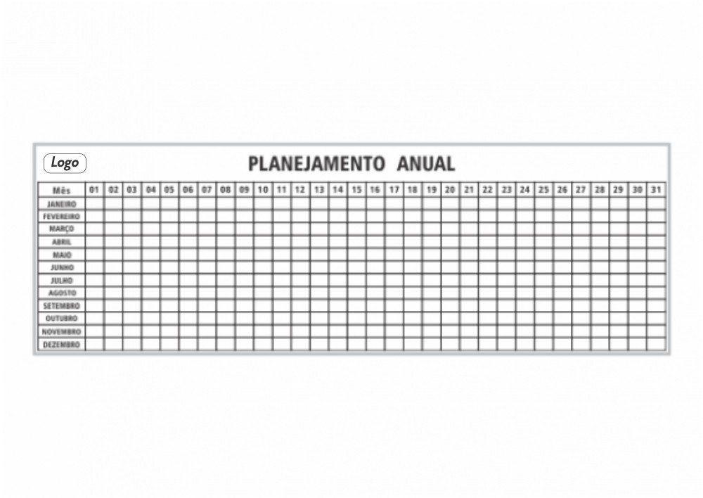 Quadro de Planejamento Anual (205 x 125cm) - Clace 1 UN