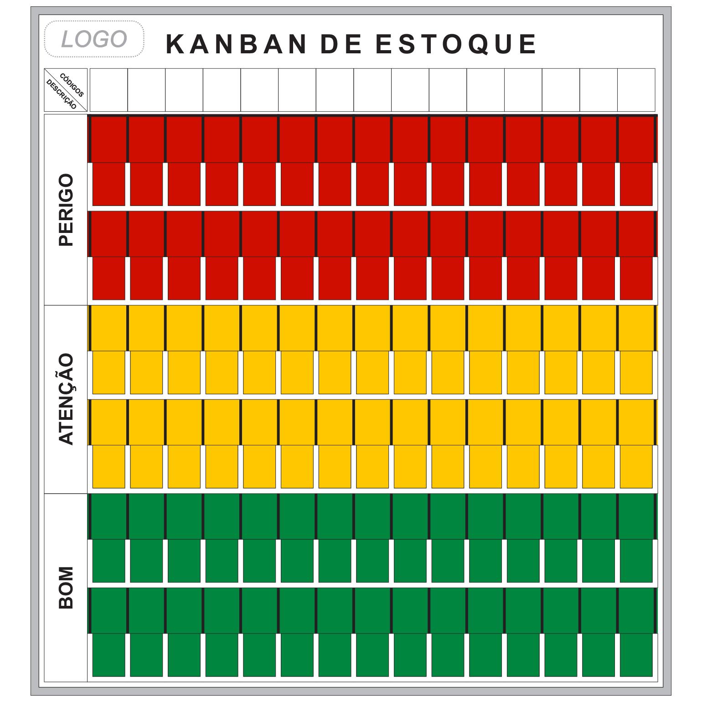Quadro Kanban de Estoque para Parede (119 x 128cm) - Sob Medida
