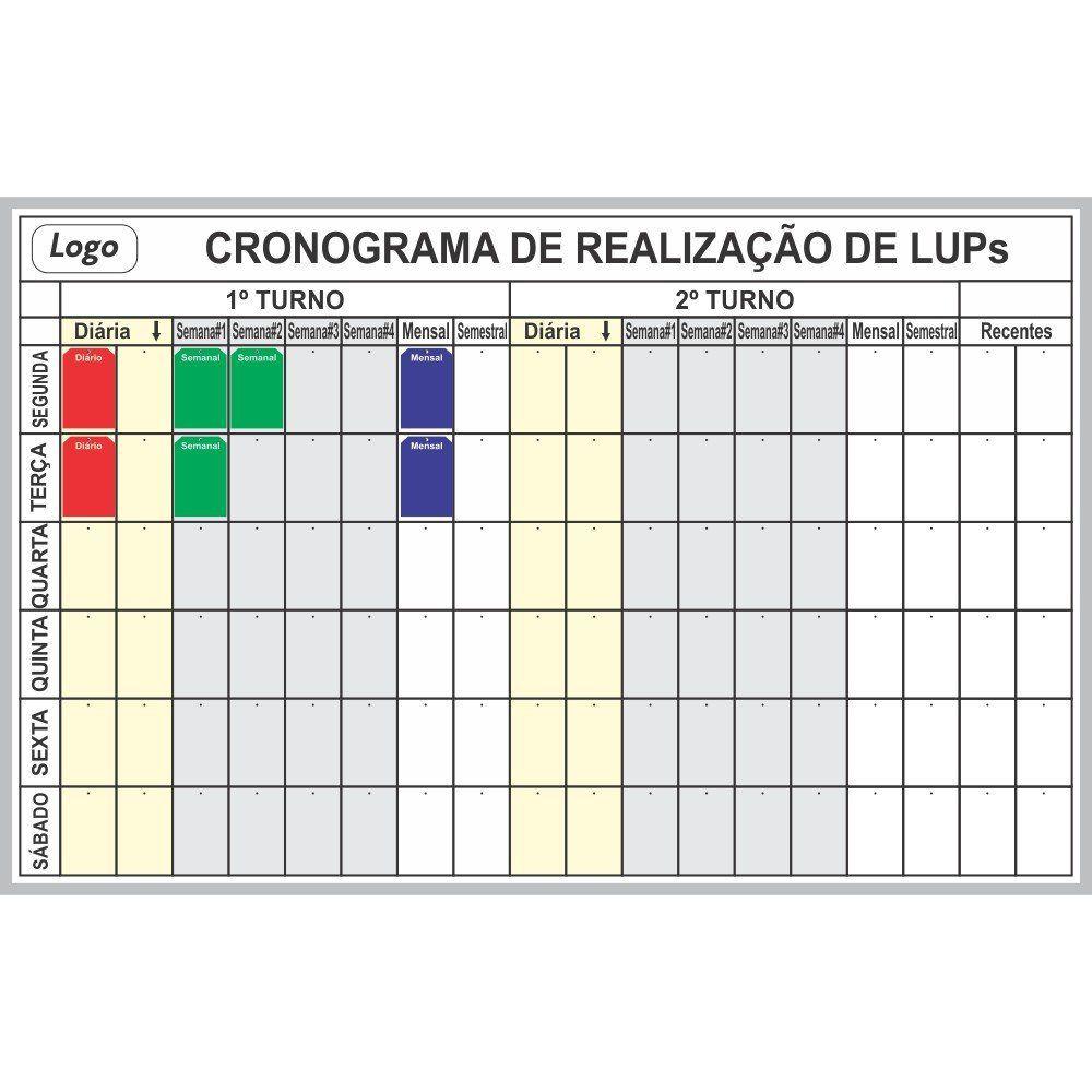 Quadro para Organização de LUPs com Suporte - Sob Medida