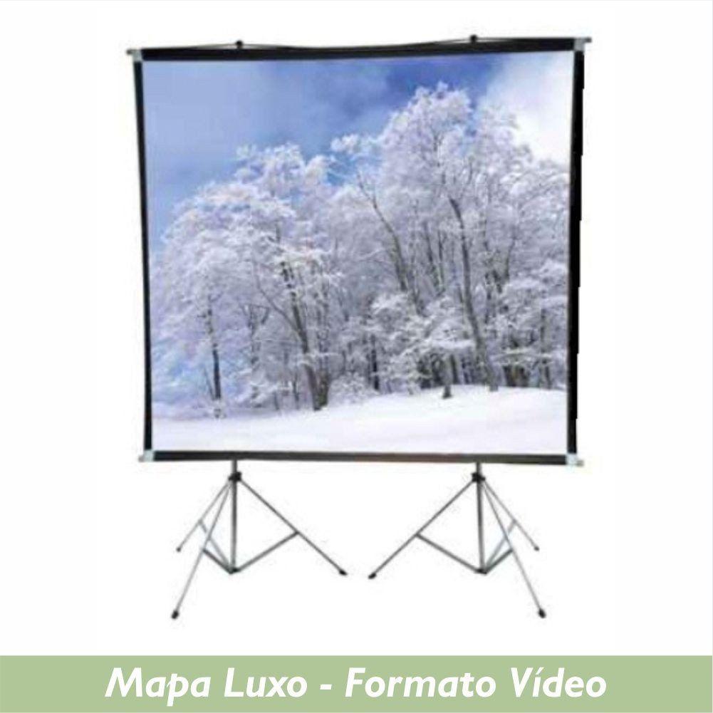 Tela Mapa Luxo no Formato Vídeo 4:3 - Clace 1 UN