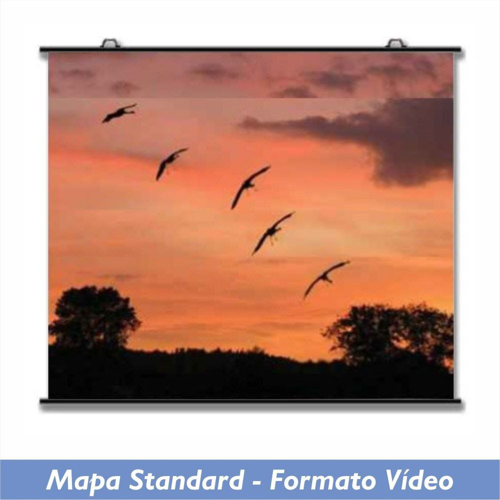 Tela Mapa Standard no Formato Vídeo 4:3 - Clace 1 UN