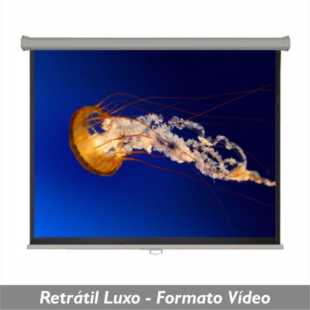 Tela Retrátil Luxo no Formato Vídeo 4:3 - Clace 1 UN