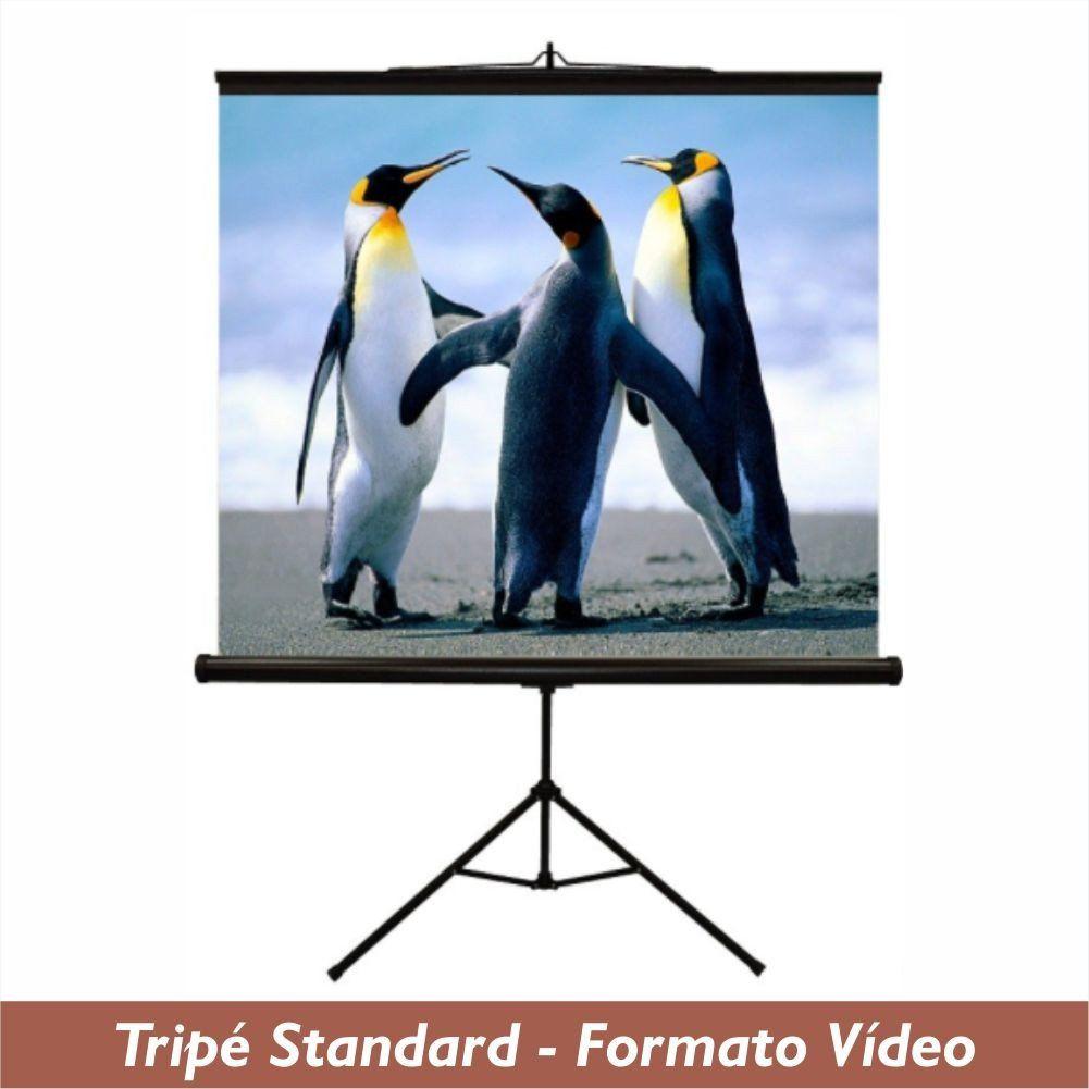 Tela Tripé Standard no Formato Vídeo 4:3 - Clace 1 UN