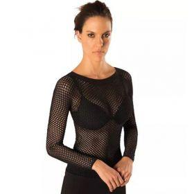 Blusa segunda pele arrastão manga longa feminina LOBA