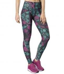 Calça feminina estampada para academia e corrida fitness Lupo 76355