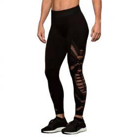 Calça Legging fitness feminina com detalhes em Trama Lupo Ref. 71713 -