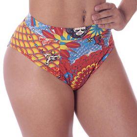 Calcinha Biquíni Hot Pant Tatoo Moda Praia Thais Gusmão -