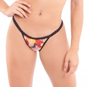 Calcinha modelo tanga c/ laterais finas Make  -