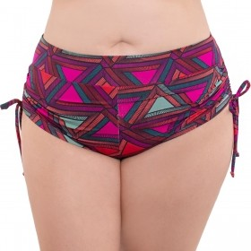 CALCINHA SHORTS BIQUINI PLUS SIZE COM REGULADOR NA LATERAL ARSIE