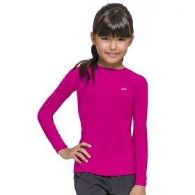 Camiseta manga longa infantil com proteção UV Selene
