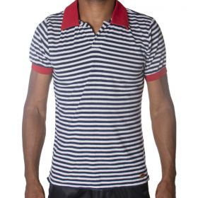 Camiseta masculina listrada polo Thais Gusmão -
