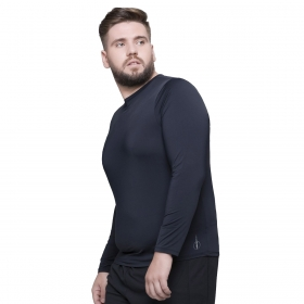 Camiseta plus size manga longa masculina com proteção UV Selene
