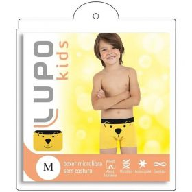 Cueca Boxer infantil masculina microfibra estampada Lupo -