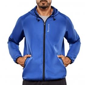 jaqueta manga longa para corrida e academia masculina Lupo .