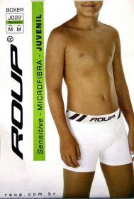KIT 5 Cueca boxer masculina microfibra infantil juvenil Roup