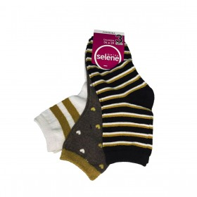 Kit c/3 pares de meias feminina Selene