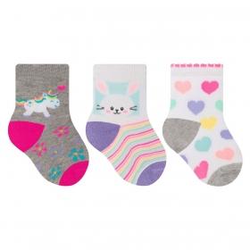 kit com 3 meias de bebê para menina Selene