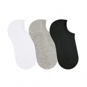KIT com 3 meias  modelo sapatilha unissex Selene