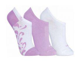 KIT com 3 meias feminina Soquetes Lupo