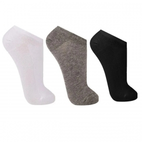 KIT com 3 meias unissex cano curto Trifil