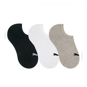 Kit com 3 pares de meia sapatilha feminina esportiva Puma